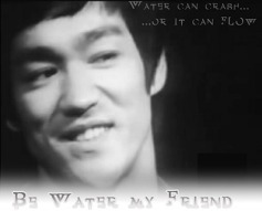 Water can crash or it can flow...  Be water, my friend Bruce Lee