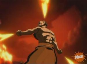 Satan firing at Man from all three directions