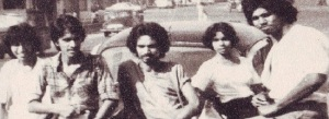 BISHOP: June 1981 (L-R)  Ravi Barnes (Bass Guitar),  Sona Barnes (Rhythm Guitar),  Michael Selverajah (Vocals/Keyboards),  Rifaai Thowfeek (Drums),  Lakshman Gamage (Lead Guitar)